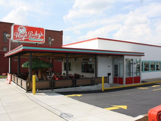 Hugh-Baby's on Charlotte Avenue has a roomy patio and