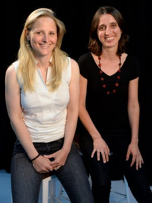 Katharine Zaleski, left, and Milena Berry are the founders of PowerToFly, a website dedicated to connecting women around the world with employers looking for virtual employees.