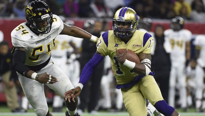 Alcorn State fans will be able to watch highlights of quarterback Lenorris Footman on a new video board this fall.