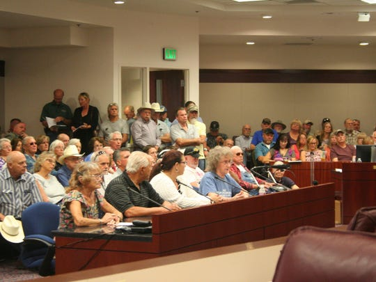 Residents from various Nevada counties listen and provide input to the Legislative Commission's Subcommittee to Study Water Friday in Carson City about the state's water issues.