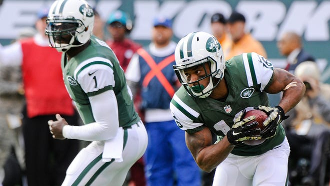 Jets wide receiver Percy Harvin runs the ball against the Pittsburgh Steelers on Nov. 10.
