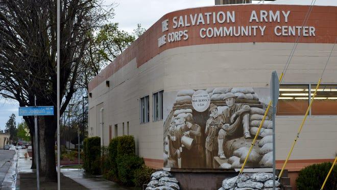 The Tulare Salvation Army on E. San Joaquin Avenue.