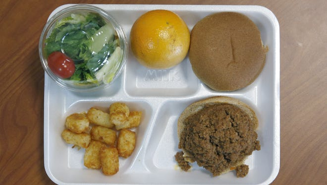 School lunch at East High School in Rochester, January 2016.