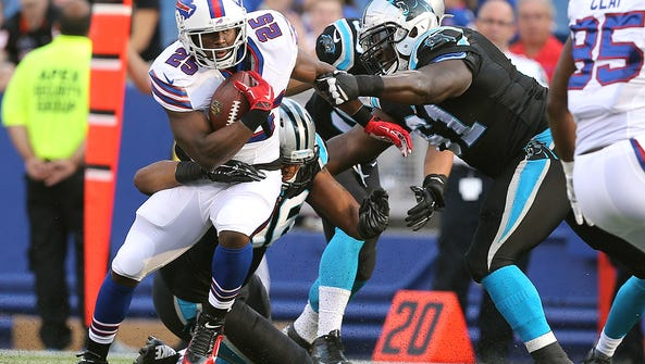 Bills running back LeSean McCoy has been slowed by