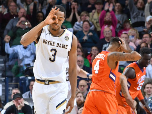 NCAA Basketball: Clemson at Notre Dame