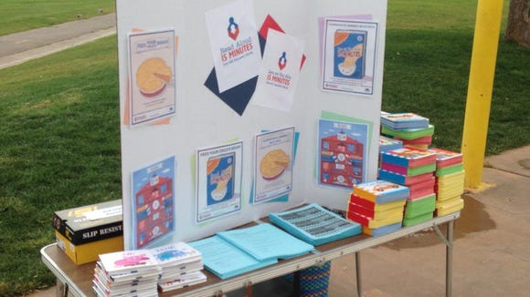 Read Aloud booth at Dixie Sun Elementary's Fall Carnival