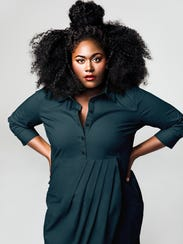 Actress and advocate Danielle Brooks wearing clothing