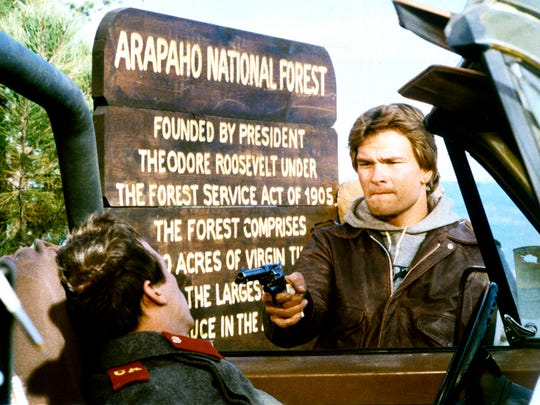 "Patrick Swayze kicks some communist butt in ""Red Dawn."""