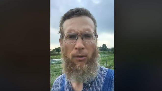 A screenshot of the video Curtis Millsap made Thursday morning. Millsap said he doesn't like to rant, but felt compelled to say something about family separations at the U.S. border with Mexico.