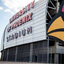 Glendale's University of Phoenix Stadium will be the site of Super Bowl XLIX next February.