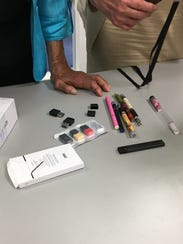 E-cigarette devices on display at a recent roundtable