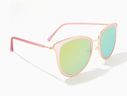 These super affordable pink and green sunglasses will
