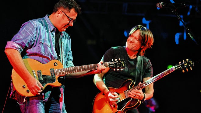 Vince Gill and Keith Urban will host the sixth All for the Hall concert on April 12.