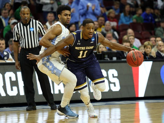 NCAA Basketball: NCAA Tournament-East Regional-North Carolina vs Notre Dame