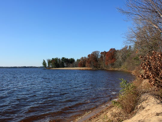 Buckhorn State Park is situated on a peninsula in the