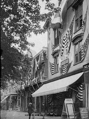 A vintage postcard depicts Vineland during Old Home Week in 1911.