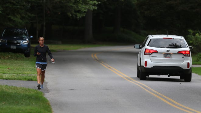 Some neighbors want to have a sidewalk put in on a portion of Oakridge Drive in Irondequoit and others are against it.  Katie Sadler, who lives nearby but not on Oakridge said sidewalks aren't needed, that cars driving through are aware of people and deer on the road.