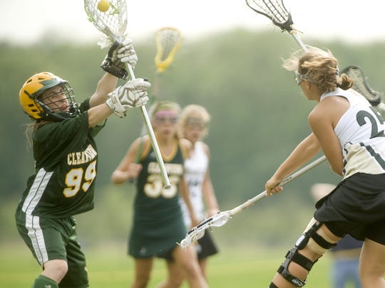 Clearview goalie Rachel Hall (99) plays against Seneca in 2010. Hall, now a senior who plays for Temple's lacrosse team, is in critical condition after being struck by a hit-and-run driver on campus.