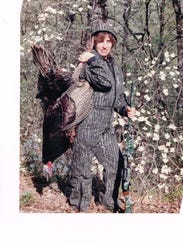 Donna White with her 25-pound spring turkey at the