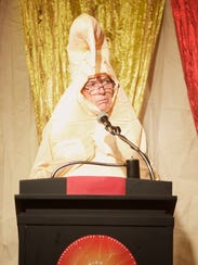 Larry Harvey, founder of Burning Man, addresses the