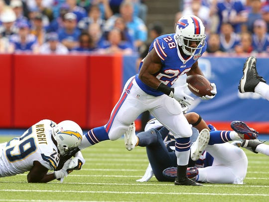Shareece Wright, shown here making a tackle on C.J. Spiller, played four years for the Chargers.