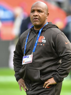 Browns coach Hue Jackson may be jumping in Lake Erie soon.