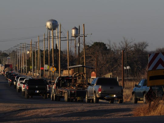 The Village of Loving is inundated with large commercial vehicles every evening following the boom of the oil and gas industry in the Delaware Basin.