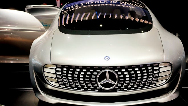 The Mecedes-Benz F 015 self-driving concept car was shown during the 2015 North American International Auto Show Tuesday in Detroit.