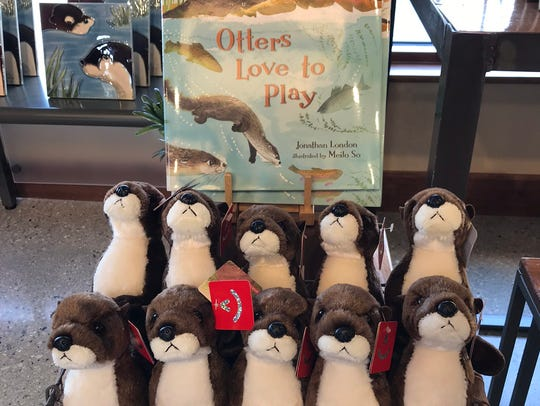 The new river otter exhibit has a gift shop with lots