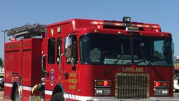 Loveland Fire Rescue Authority crews responded to a house fire Thursday morning.