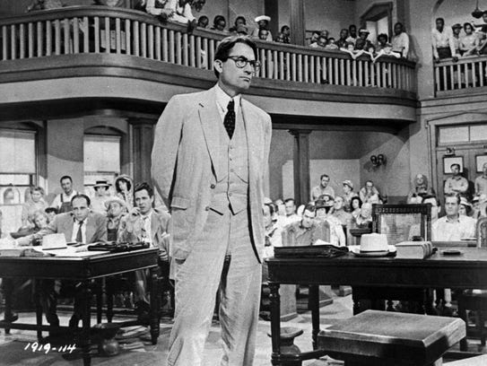 In this file photo, Gregory Peck is shown as attorney