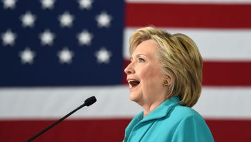 Hillary Clinton speaks at a campaign event in Reno, Nev. on August 25, 2016. Clinton attempted to paint Trump's campaign as prejudice in the speech.