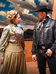 "Karin Wolverton and Morgan Smith star in Arizona Opera's ""Riders of the Purple Sage."""