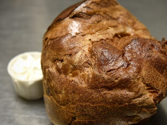 A freshly-made popover at Anton's in Waite Park.