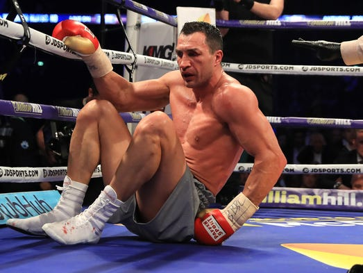 Image result for joshua knockout klitschko
