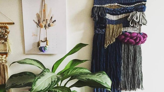 Amelia McDonell-Parry, a New York-based editor and writer, created this weaving. McDonell-Parry says Instagram has been a boon for crafters like her.