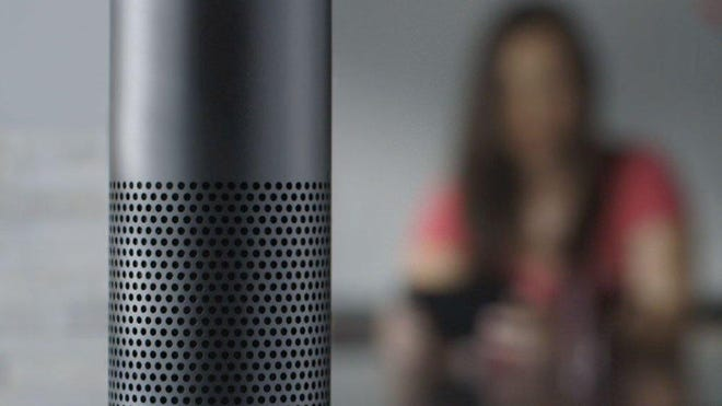 Amazon Echo uses the Alexa Voice Service to integrate with WeMo smart home devices.