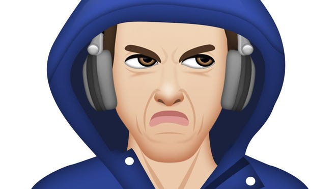 Moji's Michael Phelps app now includes a scowling emoji, added after a photo of the athlete glowering inside his hood went viral.