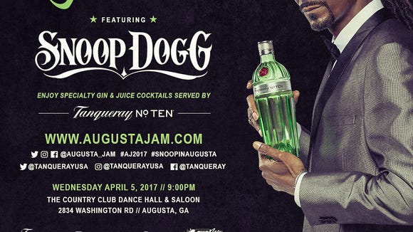 Snoop Dog throwing a party during the Masters