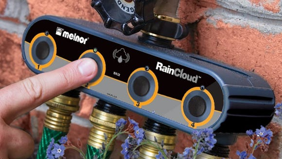 Set up watering schedules with a smart valve.