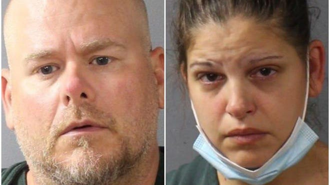 Scott Schollenberger, left and fiancee Kimberly Maurer, charged by the Lebanon County Detective Bureau with homicide and related charges in the death of Schollenberger's 12-year-old son.