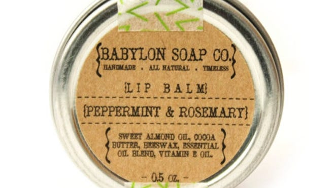 Peppermint & Rosemary Lip Balm by Babylon Soap Co., which is based in Ferndale.