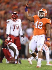 Clemson defensive end Christian Wilkins (42) has been a star of the Tigers' defense in 2016.