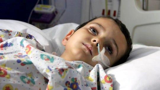 Family photo shows Aysha King in hospital.