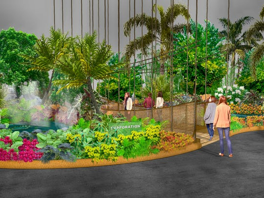A rendering of what visitors will be greeted with when they enter this year's Pennsylvania Horticultural Society Philadelphia Flower, running from March 3 to 11 at the Pennsylvania Convention Center, 12th and Arch streets.