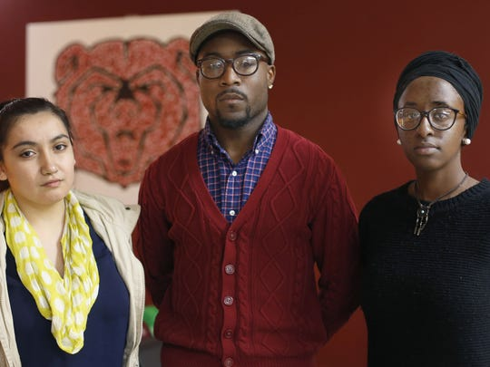 """A group of students including (from left) Monica Villa Meza, Xavier Torres-Ghoston, and Ravyn Brooks delivered seven pages of demands to Missouri State University President Clif Smart. They want the university to make a series of immediate changes, starting with the """"acknowledgement of systemic racism in high education"""" and a """"zero tolerance policy for hate crimes."""" A group of students including (from left) Monica Villa Meza, Xavier Torres-Ghoston, and Ravyn Brooks has delivered seven pages of demands to Missouri State University President Clif Smart. They want the university to make a series of immediate changes, starting with the """"acknowledgement of systemic racism in high education"""" and a """"zero tolerance policy for hate crimes."""""""