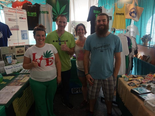 Activists for the Delaware chapter of NORML at the