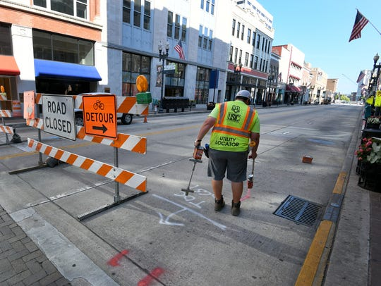 Gay St. in downtown Knoxville is closed from Summit