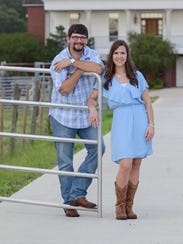 Luke Hockenjos with fiancee Olivia Vincent
