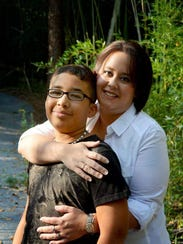 Shannon Hust with her son, Nathaniel, in 2010.